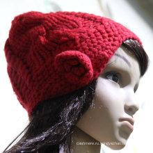 2016 высокое качество вязаная шапка/детские шапка/вышивка вязаная шапка