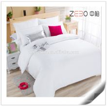 Pure White Sateen Fabric 400T Super Quality Hotel Bed Linen Bedding Sets