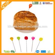 Único probador de pasteles respetuoso del medio ambiente de calidad alimentaria, guarniciones del soporte de la torta
