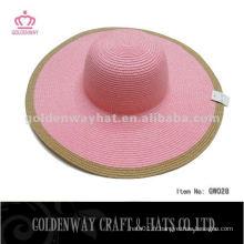 Chapeaux de soupe d'été chapeau de papier de couleur de mélange chapeau de soleil pour fête de plage