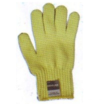 Knitted aramid fibre liner safety glove with dot pvc