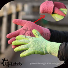 SRSAFETY winter use gloves,latex foam for gloves latex gloves china manufacturer