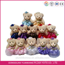 Wholesale Valentine Animal Toy,10cm Cute Mini Plush Mouse in Wedding Dress