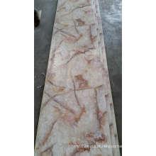Painéis de parede laváveis do PVC da folha da superfície de mármore-como a superfície do PVC da decoração interior