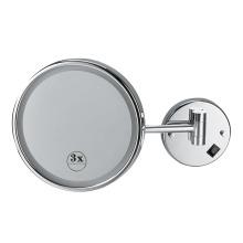 O espelho cosmético do hotel conduziu o banheiro claro do espelho