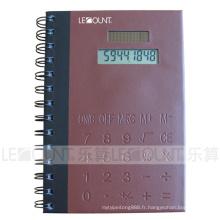 Calculatrice pour ordinateur portable Covers PVC avec note et stylo à bille (LC810B)