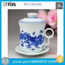 Chinese Hot Selling Porcelain Cup with Ceramic Lid