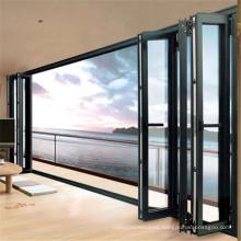 Aluminium windows and doors aluminium double glass folding window