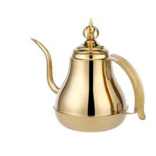 Agua de alta calidad del té del acero inoxidable del oro 1.5L / 2.0L / caldera de Hotal / caldera del café del goteo