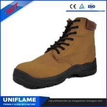 Sapatos de segurança de renda superior de camurça dividida Ufb053