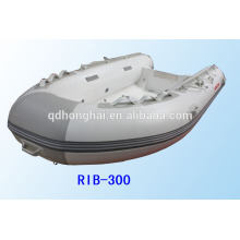 rubber boat inflatable boat rigid hull RIB300 with CE