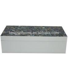 new design seashell storage box made of Newzealand paua shell