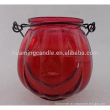 Maßgeschneiderte Glasglas Kerze duftende Behälterkerzen Sojakerzen in runder Form Großhandel