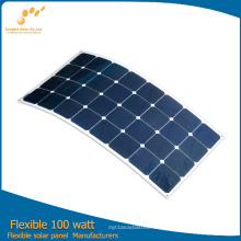 2016 panel solar flexible caliente 100W de la fábrica de China directamente