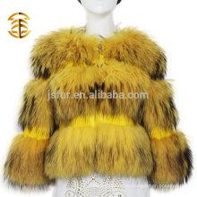 2017 Abrigos y chaquetas calientes de la venta Chaqueta de la mujer Abrigo de pieles real del mapache