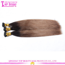 New arrival tip hair fashion popular ombre i tip hair extension for cheap wholesale 7a grade i tip hair