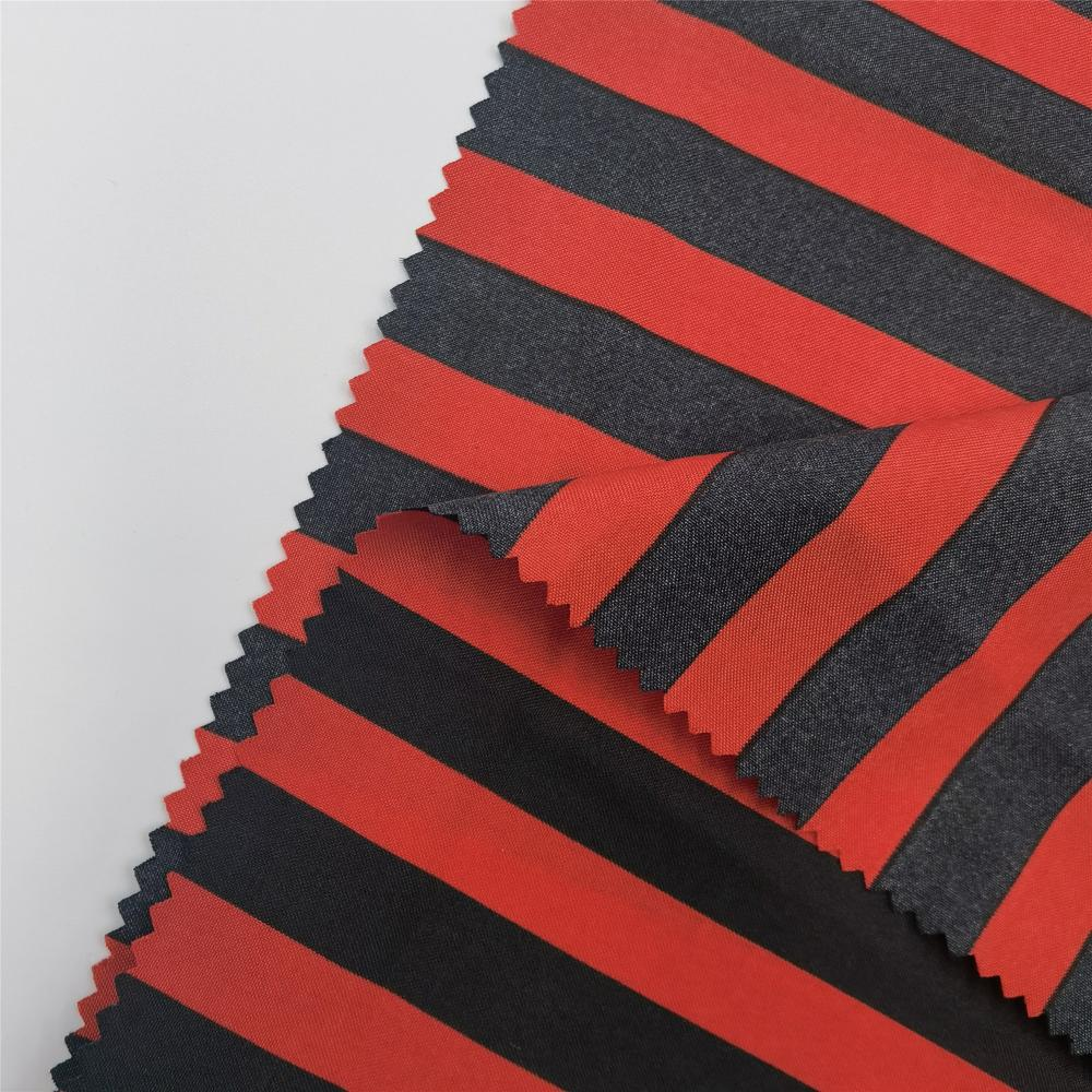 100 Polyester Plain Stripes Cloth