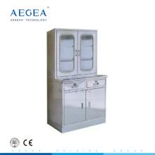 AG-SS039 médical magasin en acier inoxydable armoire armoire d'hôpital