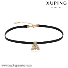 44055 Collar de gargantilla de cuero con forma de mosca de las señoras de moda al por mayor de la joyería de diseño de insectos