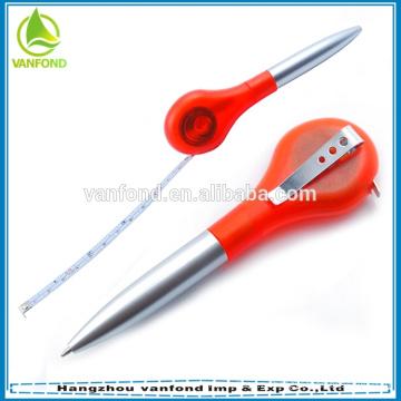 2 in1 пластиковые промо перо, ленты мера перо, твист шариковая ручка