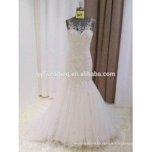 Sweetheart Backless Crystal Beadings Custom Made Formal Bridal Gowns Design Robe De Mariee Mermaid Wedding Dresses 2016 15017