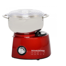 Food mixer with stainless steel bowl