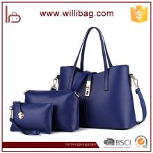 Alta calidad moda barato 3pcs mujeres bolso conjunto