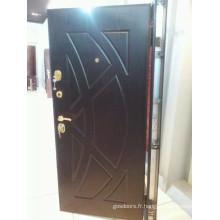 2014 Nouvelle conception et porte blindée en bois d'acier de haute qualité (JC-A069)