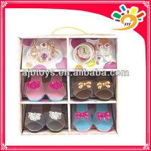 Juguetes 2013 nuevo producto / juguete de plástico princesa de las niñas favor de partido zapatos de decoración cosplay conjunto