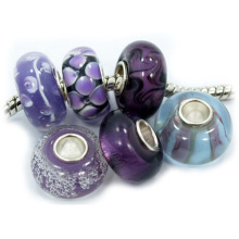 Murano Glas Charms mit 925 Sterling Silber Core