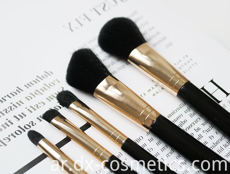 5 PIECE Essential travel makeup brush set 3