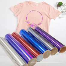 Heat Press PET Holographic Metalized Film Roll Vinyl Heat Transfer Designs for Fabric Bags Luggage