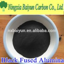 Suprimento de fábrica 120mesh pó de alumina fundido preto para moagem e polimento