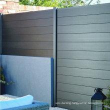 Waterproof Windproof Outdoor Garden Composite Fenceing Trellis Aluminum Post WPC Fence
