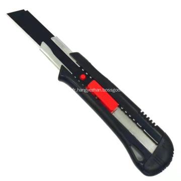 Couteau de coupe utilitaire de sécurité en plastique à lame cassable 18 mm