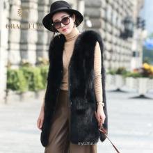 Chaleco de piel de zorro de las mujeres más vendido en venta comprar en línea