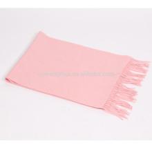 mezcla 50% cachemira 50% lana llanura bebé rosa bufanda