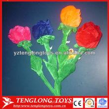 Hermosa flor de juguete realista de peluche para la decoración