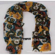 écharpes de poncho d'impression de laine de couleur vive châles cravates