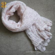 Invierno y Otoño de moda a mano tejida bufanda lisa