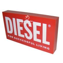 Customized acrylic logo display block