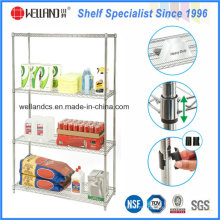 Heavy Duty aço cromado supermercado supermercado Food Storage Wire Shelving