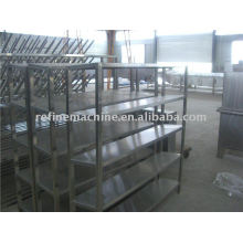 Stainless steel shelf for drain water