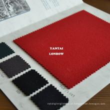 100% lã caça rosa escarlate tecidos para montar casacos