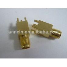 обратный SMA женский прямой Тип PCB алюминиевой фольги разъем