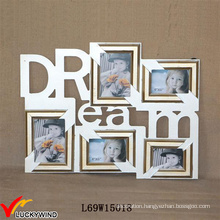 Dream 5 Opening Antique Wood Wall Photo Frame