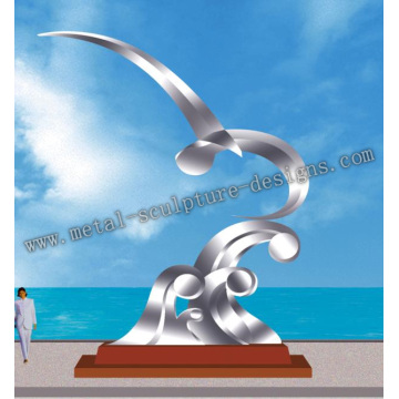 stainless steel arts sculpture for city decoration