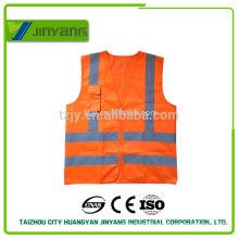 EN20471 solid pocket reflective safety vest with zipper