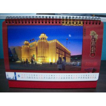 Calendario lenticular 2015 de la fábrica 3D para el escritorio