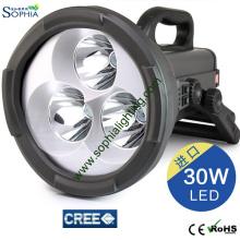 Haute lampe de poignée de main de CREE LED du lumen 30W Éclairage de premier répondeur